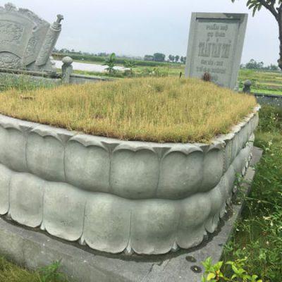 Mẫu mộ đá xanh rêu đẹp hợp phong thủy chất lượng tốt giá rẻ