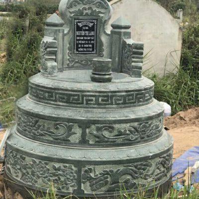 Mẫu mộ đá xanh rêu đẹp hợp phong thủy chất lượng tốt giá tốt