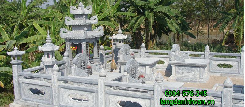 khu lăng mộ gia đình bằng đá được lắp đặt tại hà nam