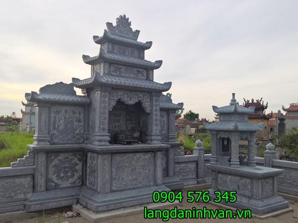 Mẫu thiết kế khu lăng mộ gia đình đẹp, chuẩn phong thủy