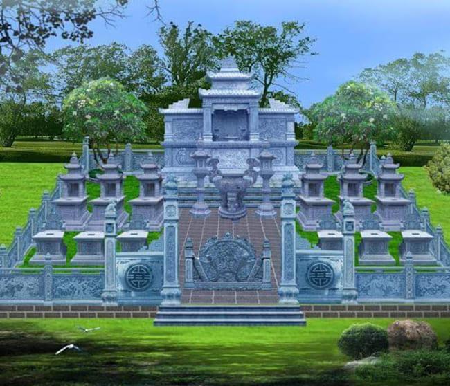 Mẫu thiết kế khu lăng mộ gia đình đẹp
