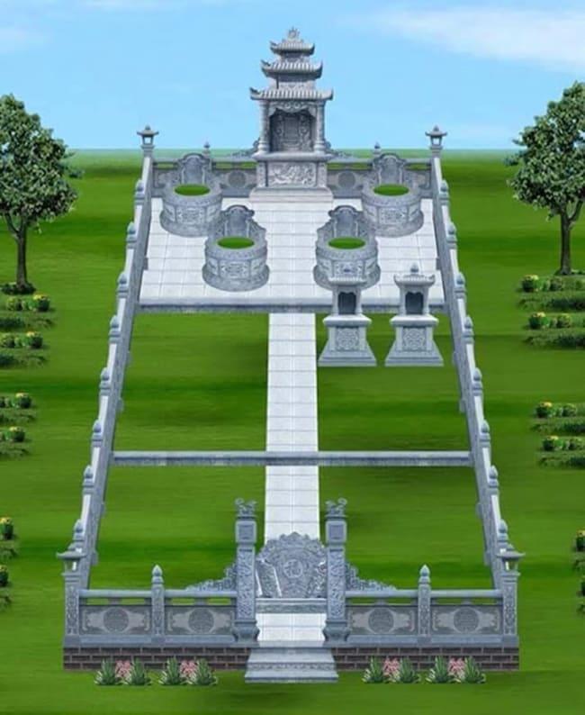 Khu mộ gia đình đẹp chuẩn phong thủy