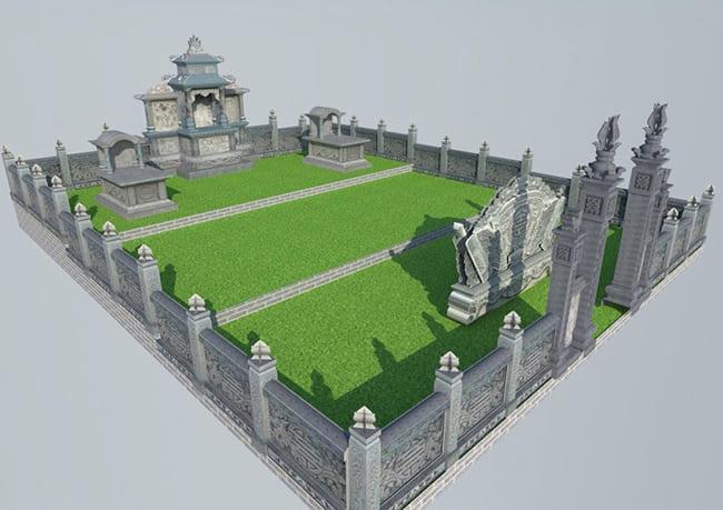 Thiết kế khu mộ gia đình đẹp