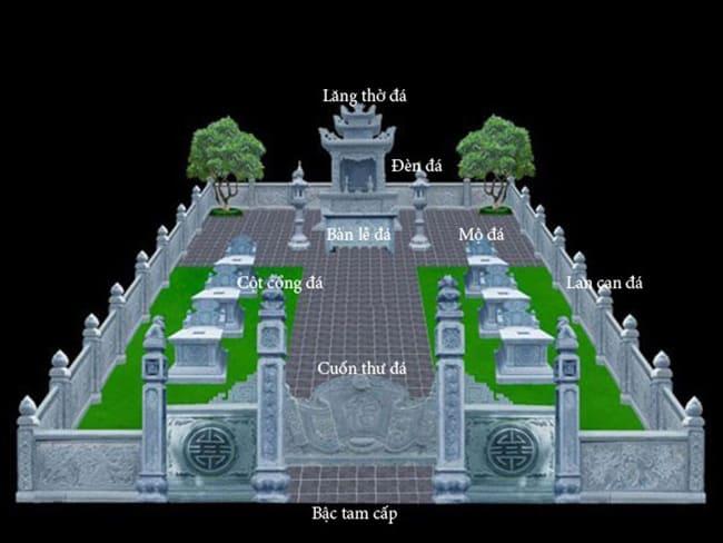 Bản vẽ thiết kế khu lăng mộ đá