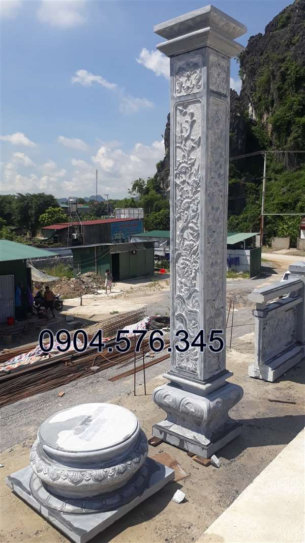 Mẫu cột đồng tru, cột đá đẹp nhât 2019.thi công cột đá tại bắc giang