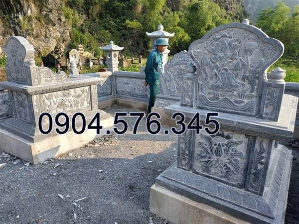 thi công lắp đặt khu lăng mộ đá tại Tuyên Quang