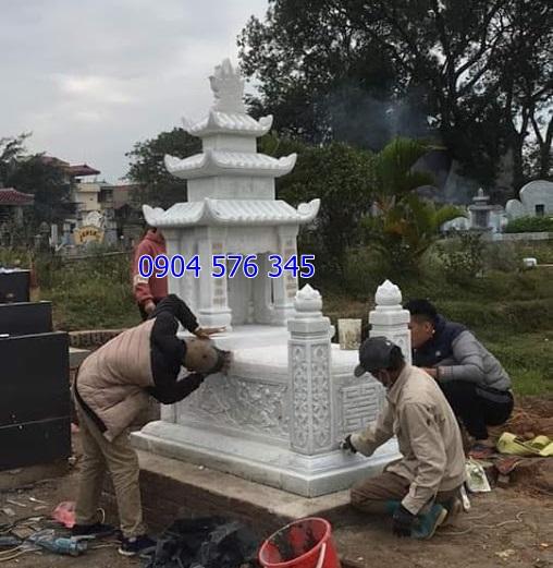 lắp đặt mộ đá có mái tại nghĩa đàn nghệ an 2019
