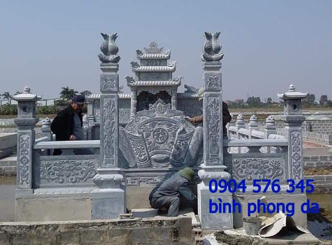 mẫu tắc môn đá, bình phong đá được lắp đặt tại lăng mộ - 008