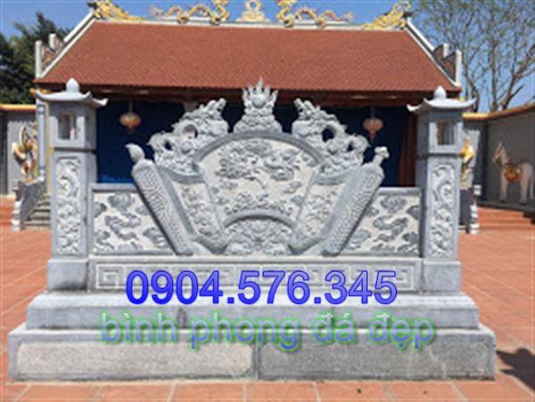 mẫu cuốn thư đá được đặt tại cửa đình làng đẹp - 010