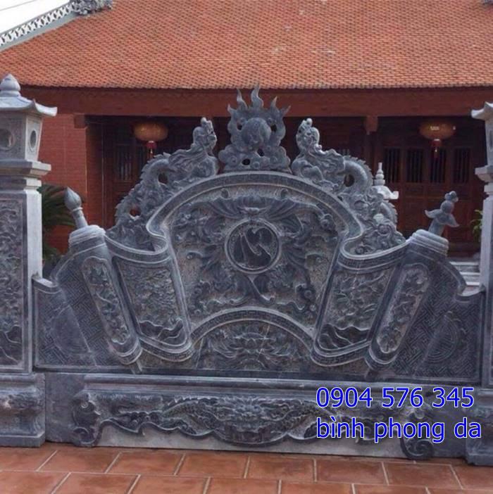mẫu tắc môn cuốn thư, bình phong đá được đặt tại cổng chùa - 018