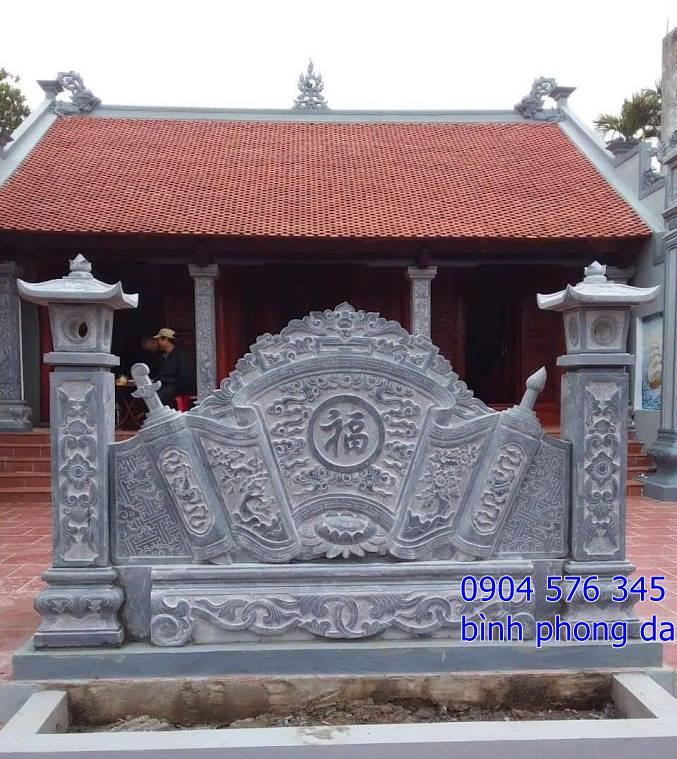 lắp đặtbức bình phong bằng đá đẹp tại nhà thờ họ Đỗ - Hà Nội 2019
