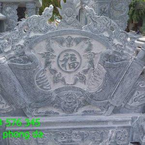 5 Mẫu tắc môn bức bình phong cuốn thư đá khu lăng mộ nhà thờ họ đẹp nhất 2019