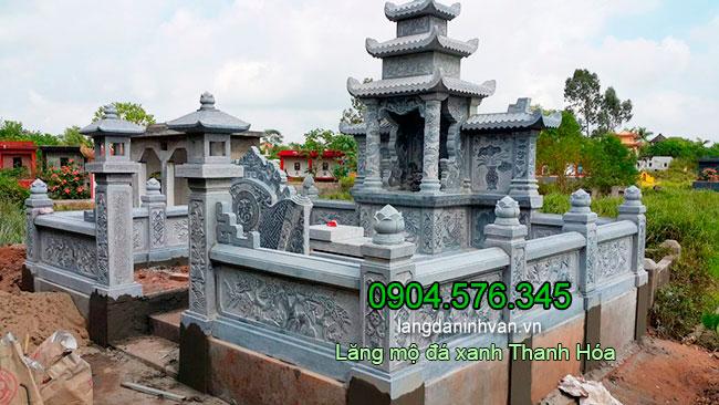 Đá mỹ nghệ Ninh Vân - Thi công lắp đặt, làm lăng mộ đá tại Thanh Hóa - Lăng mộ đá xanh Thanh Hóa