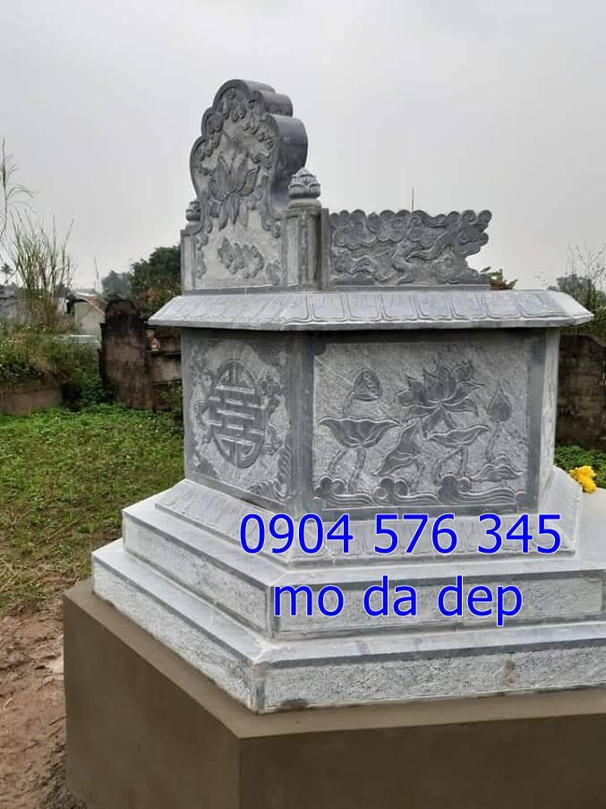 ắp đặt mẫu mộ đá bát giác tại Hòa Bình 2019