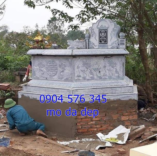 Mẫu mộ đá hình bát giác đẹp được lắp đặt tại hòa bình 2019