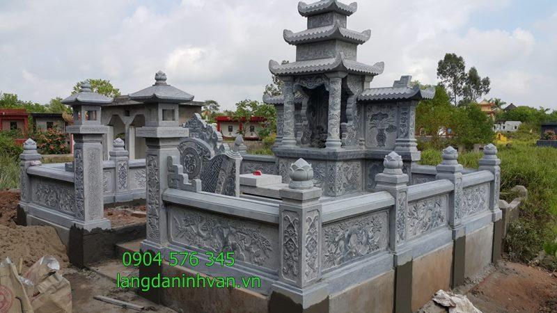 khu lăng mộ đá đẹp cuốn thư đá khu lăng mộ