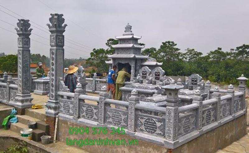 hình ảnh khu lăng mộ gia tộc bằng đá đẹp tại long an