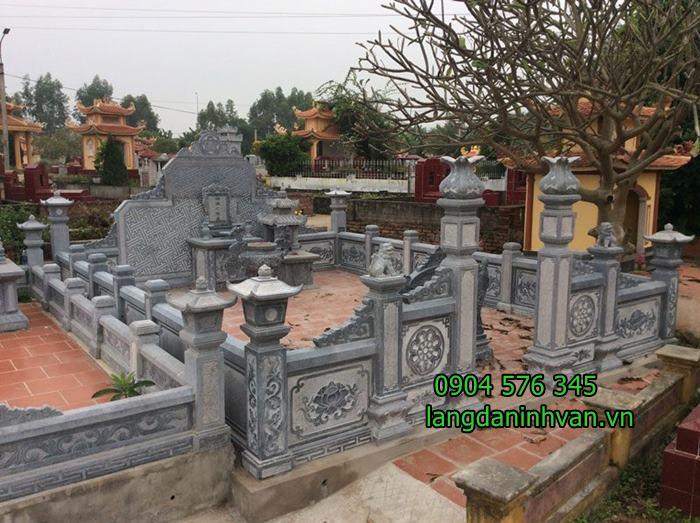 khu lăng mộ dòng họ bằng đá xanh đẹp tại bình dương