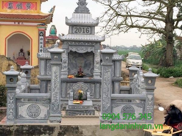 mẫu khu lăng mộ gia đình dòng họ bừng đá tại Bình Định 2019