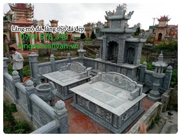khu lăng mộ gia đình đẹp lắp đặt tại bình định