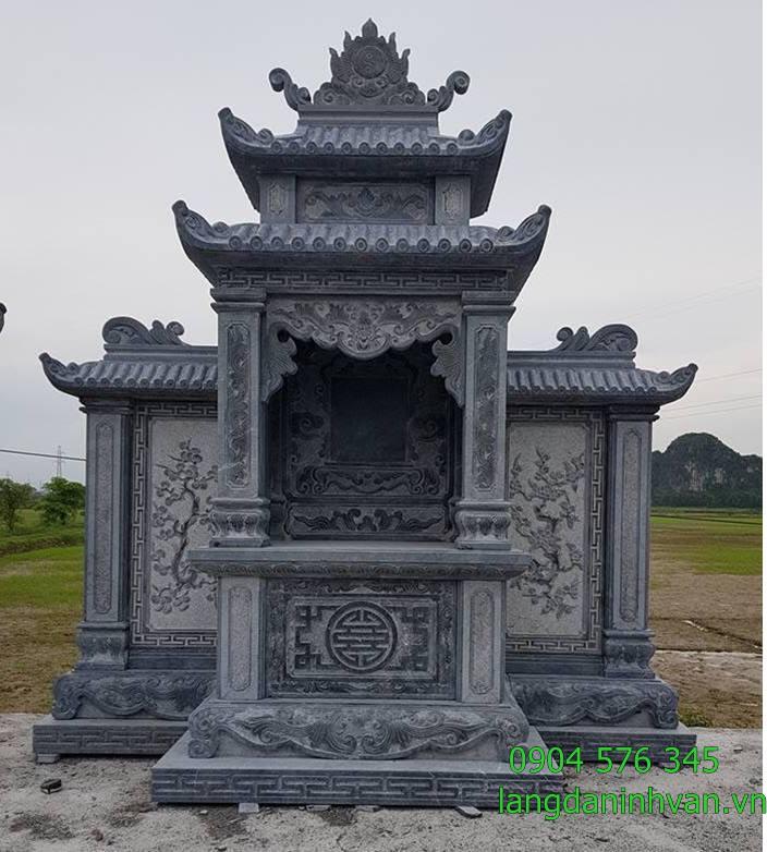 lăng thờ long đình lăng thờ chung bằng đá được lắp đặt tại khu lăng mộ