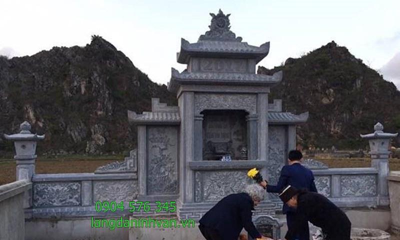 khu lăng mộ đa đẹp nhất lắp đặt tại bình định
