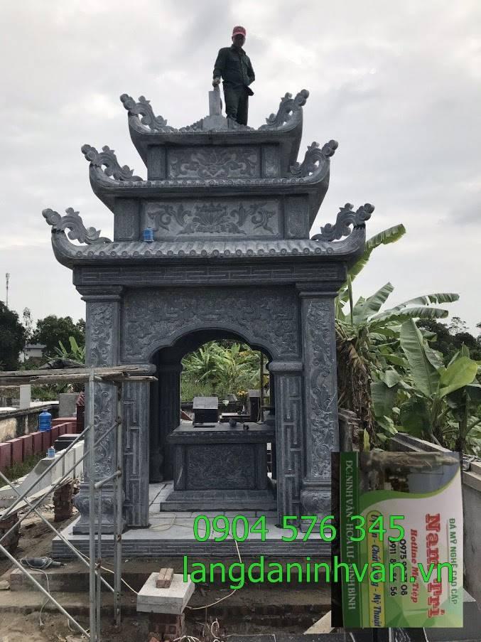 lăng thờ đá được đẹp được lắp đặt tại Bình Định