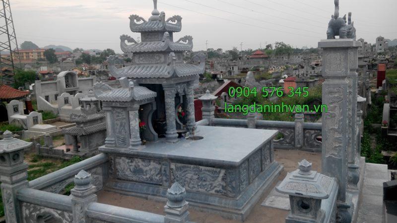 khu lăng mộ tổ bằng đa được lắp đặt tại bình định