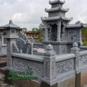 mẫu khu lăng mộ đá gia đình và dòng họ bằng đá tại bình định