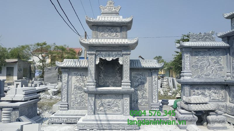 lăng thờ bằng long đình bằng đá đẹp được lắp đặt tại bình thuận