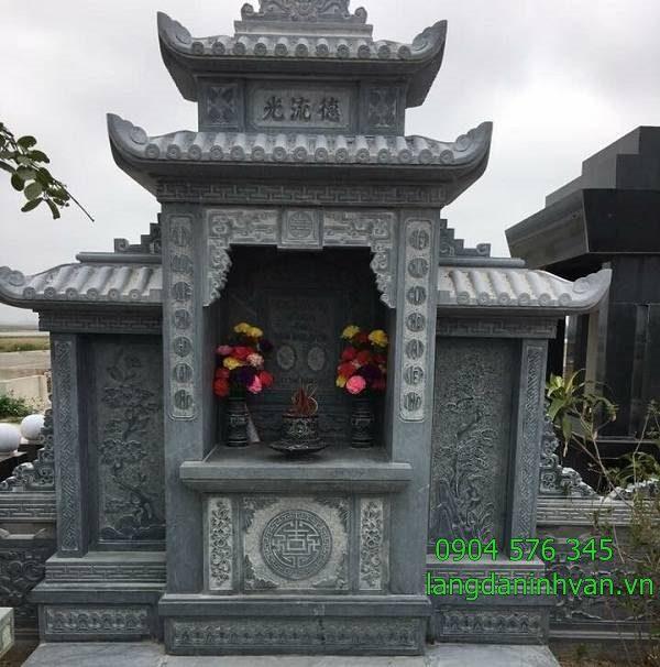 lăng thờ gia tiên trong khu lăng mộ đá đẹp bằng đá xanh tự nhiên tại quảng bình