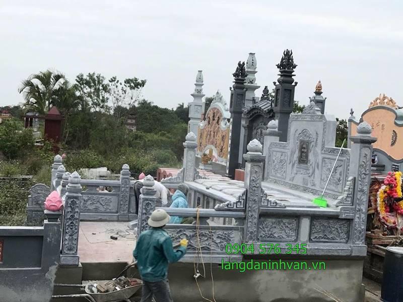 lắp đặt khu lăng mộ tổ bằng đá tự nhiên tại sóc trăng