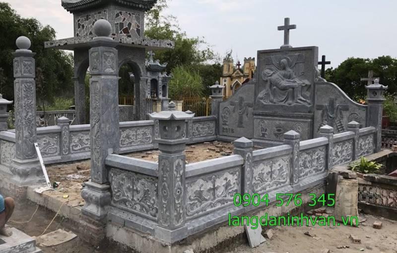 khu lăng mộ công giáo gia đình bằng đá đẹp giá rẻ