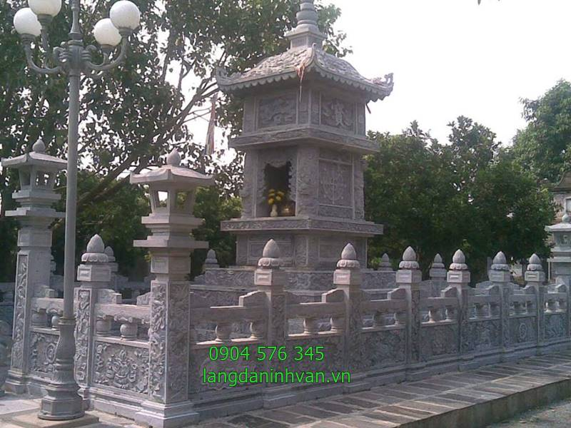 Khu lăng mộ tháp bằng đá đẹp để cất hài cốt giá tốt tại Sài Gòn - 1