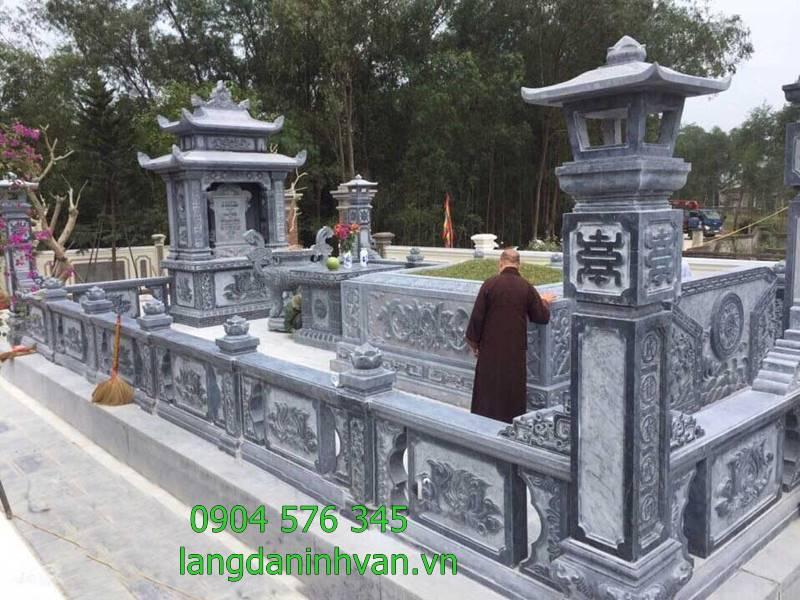 Mẫu khu lăng mộ đá được lắp đặt tại hòa bình, các mẫu lăng mộ đá