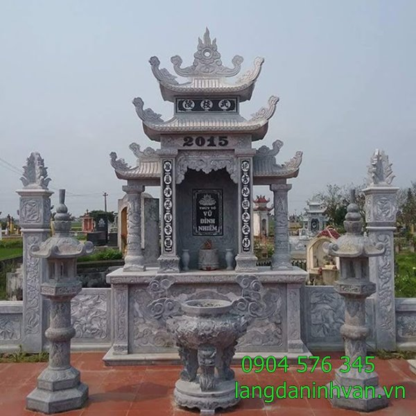 khu lăng mộ bằng đá đẹp được lắp tại hàm yên Tuyên Quang- 15