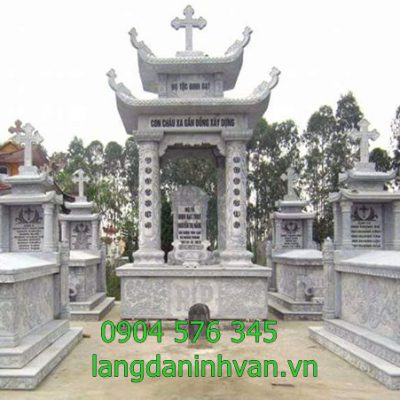 khu lăng mộ công giáo đẹp được lắp đặt tại Bình Định