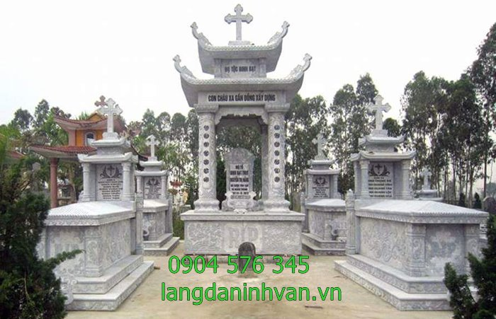 khu lăng mộ đá công giáo đẹp giá rẻ -16