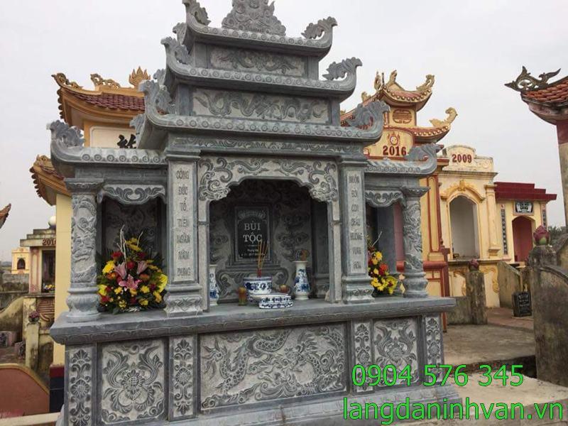 long đình lăng thờ chung trong khuân viên khu lăng mộ gia đinh