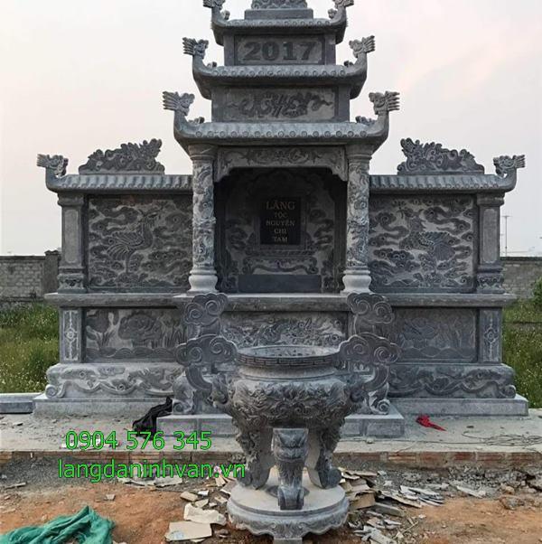 lăng thờ đá lăng đình lăng thờ chung đá được lắp tại nghệ an- 43