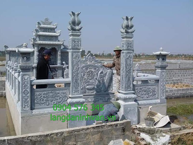khu lăng mộ bằng đá xanh đẹp