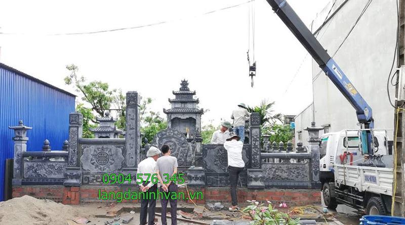 lắp đặt khu lăng mộ đá dòng họ phạm văn tại Bắc Ninh - 53