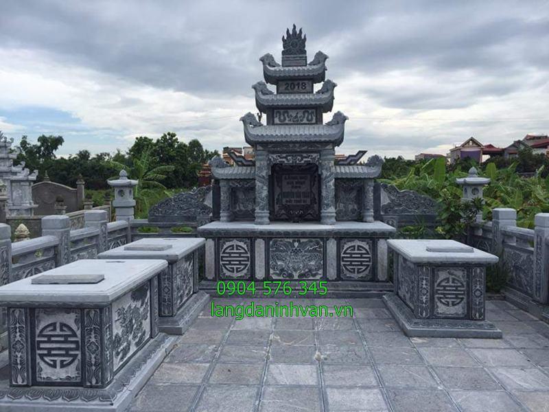 Mẫu khu lăng mộ gia đình bằng đá xanh tự nhiên đẹp nhất 2019