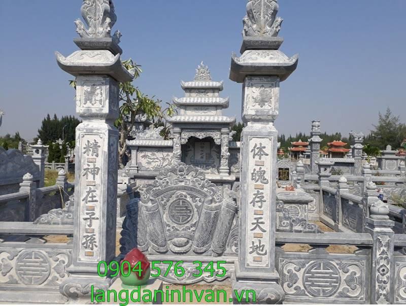 khu lăng mộ gia đình bằng đá đẹp và hợp phong thủy