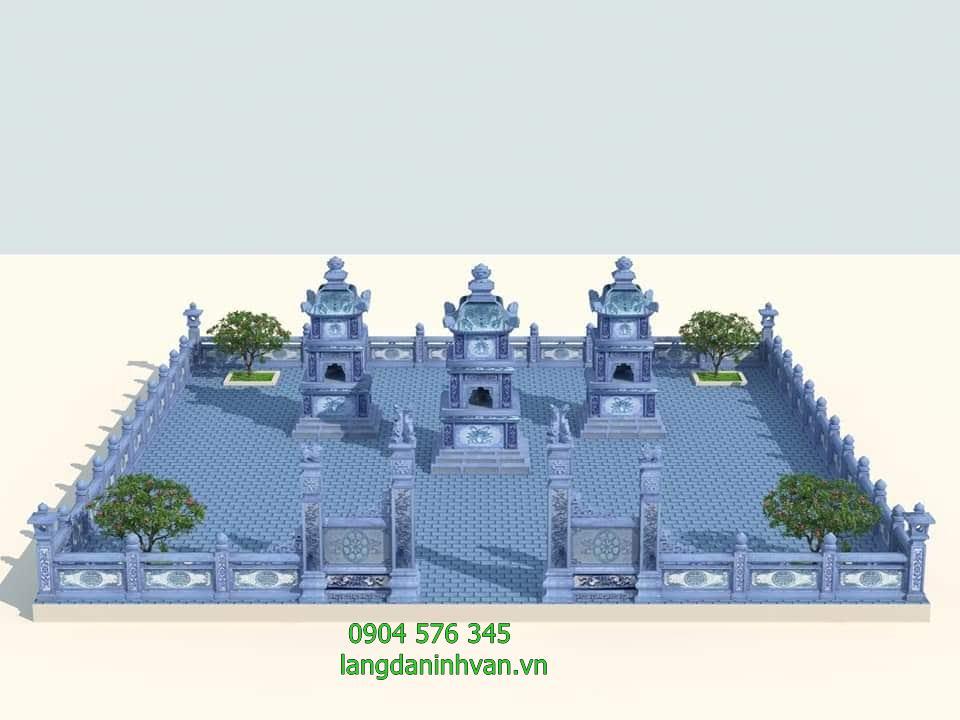 bản thiết kê khu lăng mộ tháp bằng đá xanh đẹp