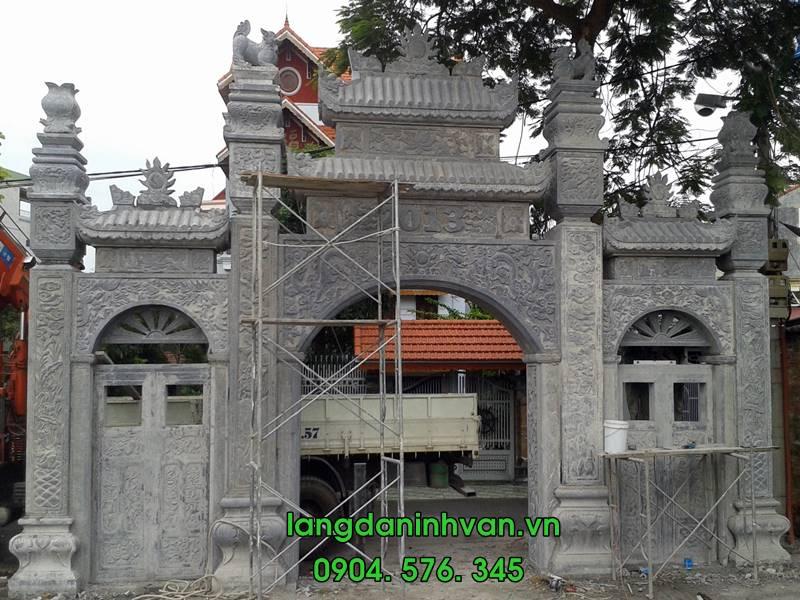 lắp đặt cổng đá nhà thờ họ tại hải dương