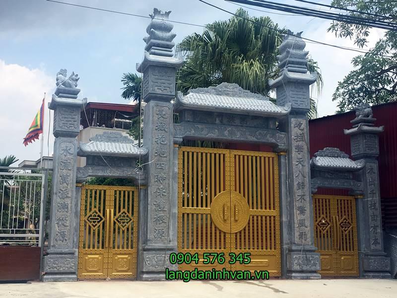 cổng tam quan đá được lắp tại nhà thờ họ ở hải phòng