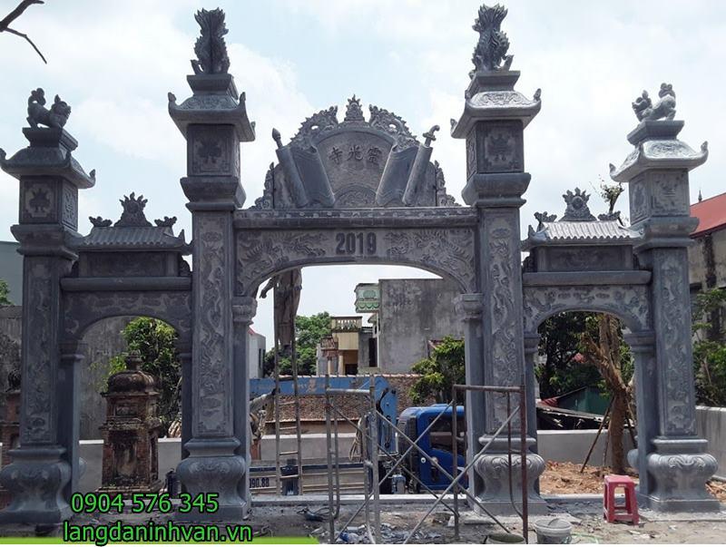 cổng tam quan bằng đá đẹp đơn giản