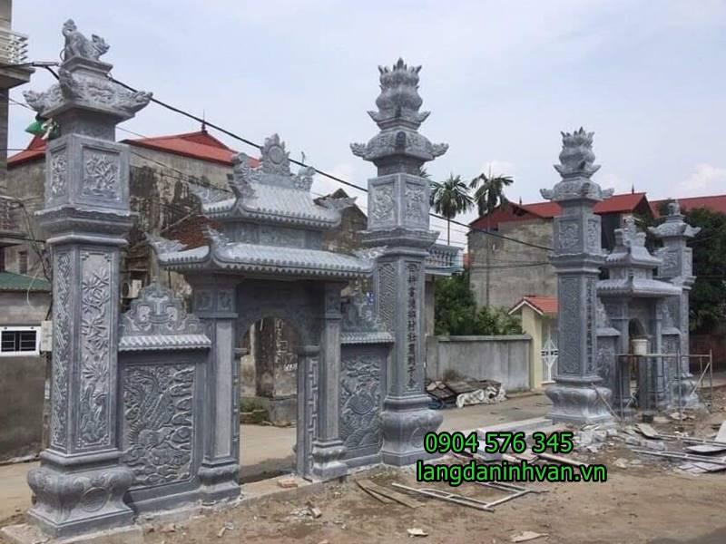 20 Mẫu Cổng đá - Cổng tam quan nhà thờ họ đẹp nhất 2