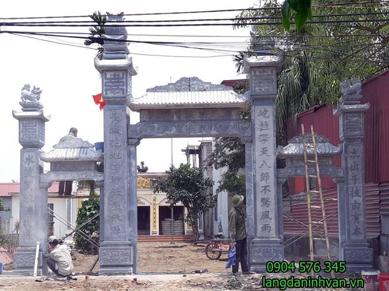 20 Mẫu Cổng đá - Cổng tam quan nhà thờ họ đẹp nhất 4